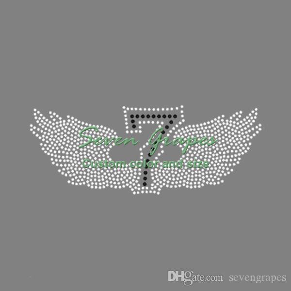 7 Wings Strass-Transfers Aufbügeln Hotfix-Motiv Hotfix-Applikation