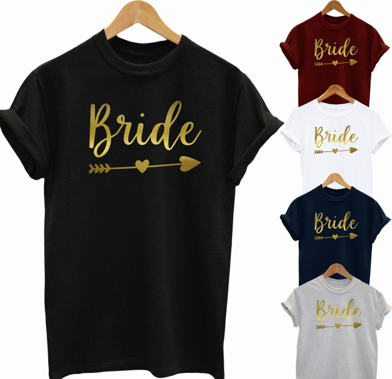 Ladies hen party t-shirts tops Bride Bridesmaid Mother of the bride red
