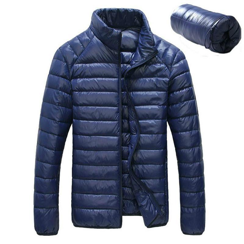 [Aiweier] Men Autumn Winter Jacket Ultra Light 90% White Duck Down Casual Coat for Male Plus Size Down Parkas Garment Clothes