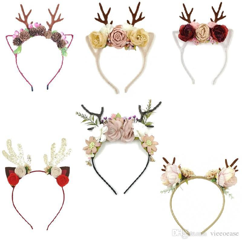 Vieeoease Baby Girls Headbands Unicorn Hair Sticks 2018 Fashion Horn Flower Gauze Headband Girls Princess Party Accessories EE-970
