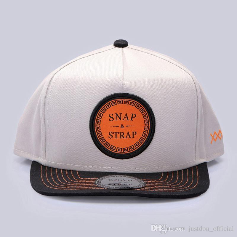 SNAP STRAP Sólida Plana Bill Hip Hop Snapback Chapéu Remendado Two Tone 5 painel BaseBall Caps Para Homens Mulheres Em Preto Apricot Skate Ajustável