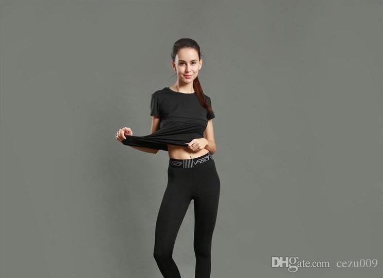 요가 바지 여성 스포츠 바지 꽉 꽉 실행 피트 니스 종합 훈련 레깅스 빠른 건조 스트레칭 통기성 2017 새로운