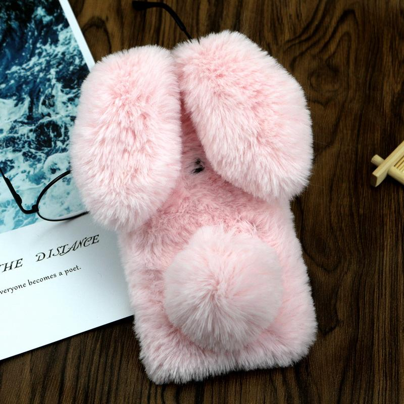 Cute Rabbit Ears Doll Case For Xiaomi Mi A2 lite Redmi 6 Pro Phone Case Soft TPU Diamond Bling Cover For Xiaomi A2 Lite Redmi 6A