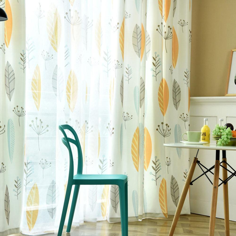 """Venda Por Atacado várias cores voile janela semi-apagão cortina com tule manufaturado fios sheer drape folhas padrão de design 52 """"x84"""""""