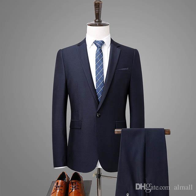 Venta caliente de la primavera para hombre de la marca de lujo trajes del ajuste delgado traje de boda de los novios Hombre para Hombre Matrimonio juegos formales de baile