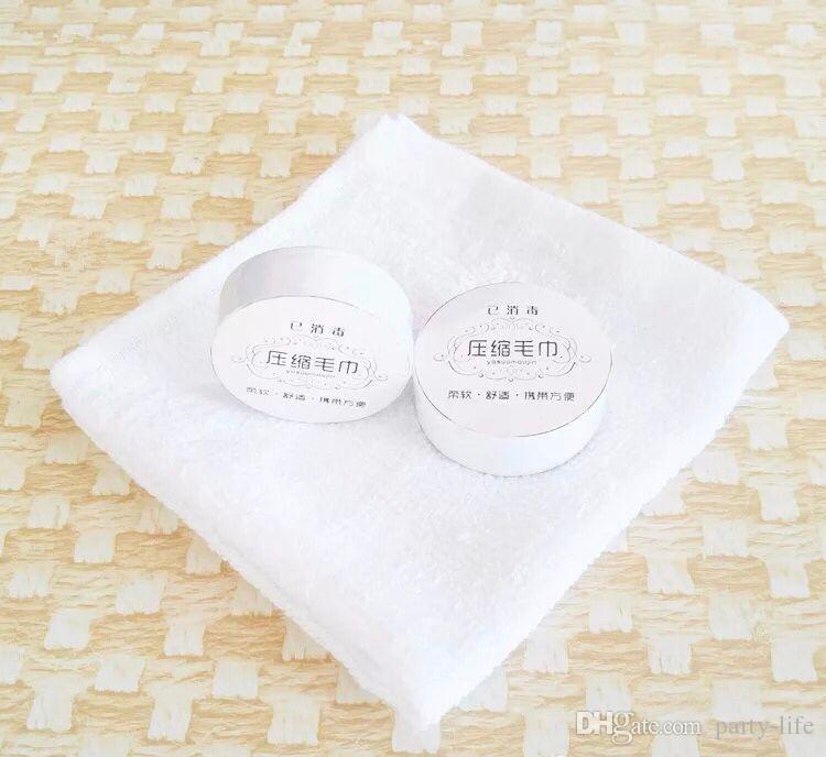 Serviette réutilisable de serviette de coton de voyage comprimée magique magique de visage de voyage, 500pcs