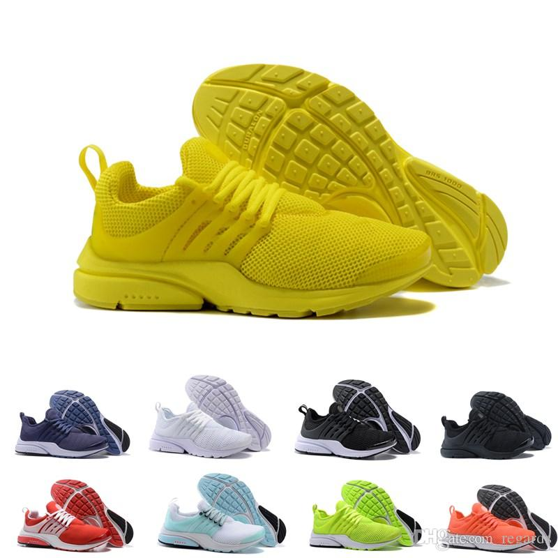 Meilleure Qualité Air Presto 5 Chaussures De Course Hommes Femmes 2018 Prestos Ultra BR QS Jaune Rose Noir Oreo Sports De Plein Air De Mode De Jogging