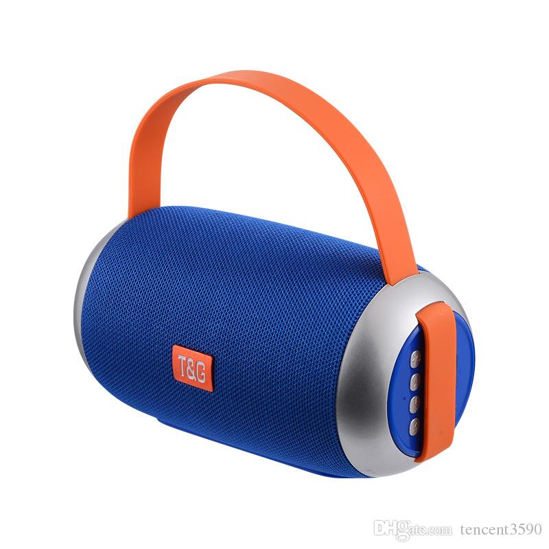 new TG112 fabric drum portable Bluetooth wireless speaker Subwoofer TF card U disk FM Outdoor portable Waterproof speaker For iphone XS max