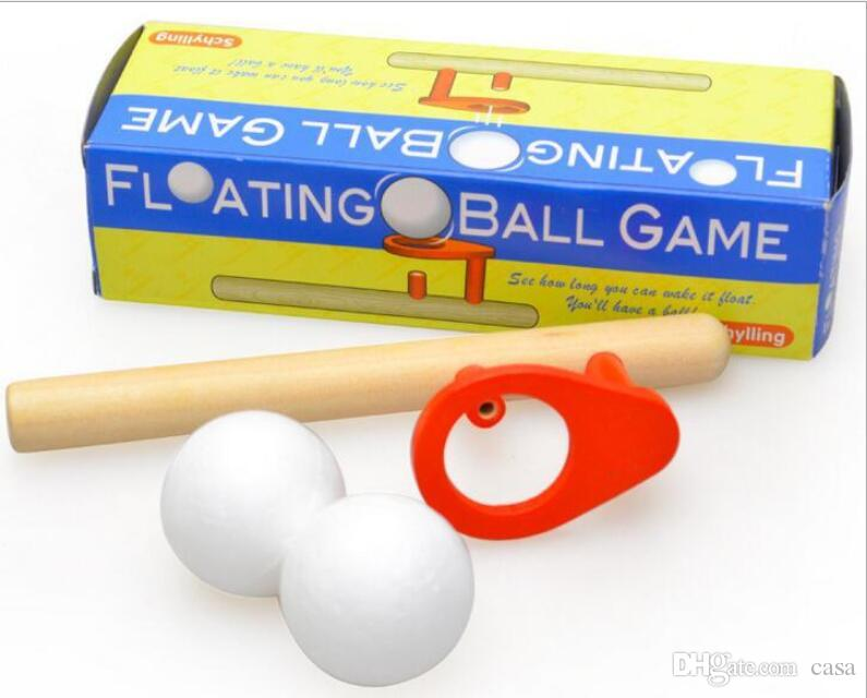 Blow Magic ball game classic children early educational fun puzzle wooden Magic Toy for children Foam Floating Magic Ball
