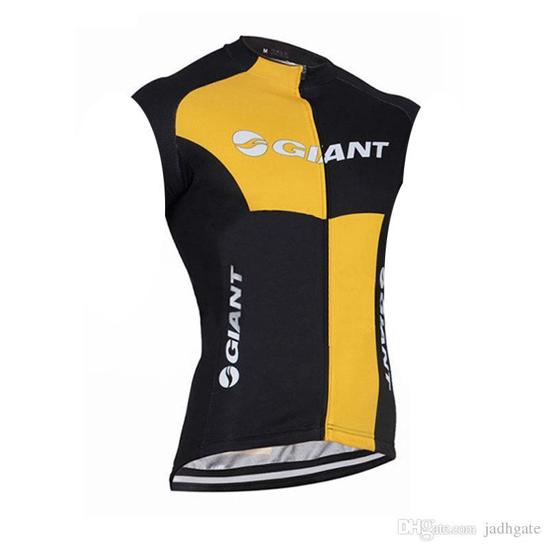 Гигантская команда Велоспорт без рукавов Джерси жилет мужские летние быстросохнущие гоночный велосипед одежда Майо Ropa Ciclismo U61912