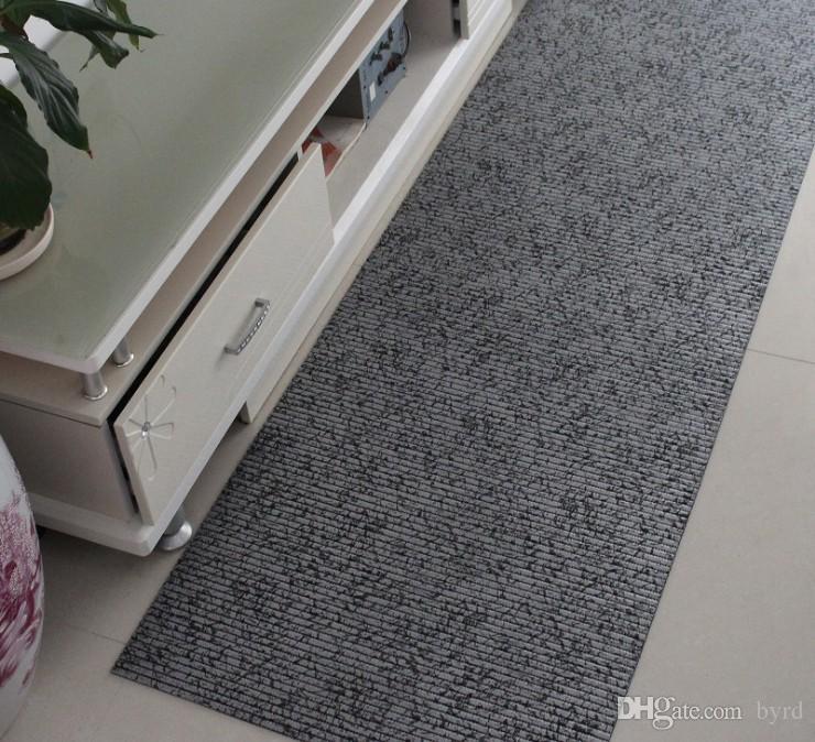 Antipolvere terra mat PVC espanso ispessita antisdrucciolevole stuoia rettangolare righe bagno tappeto 130 * 200CM Y004