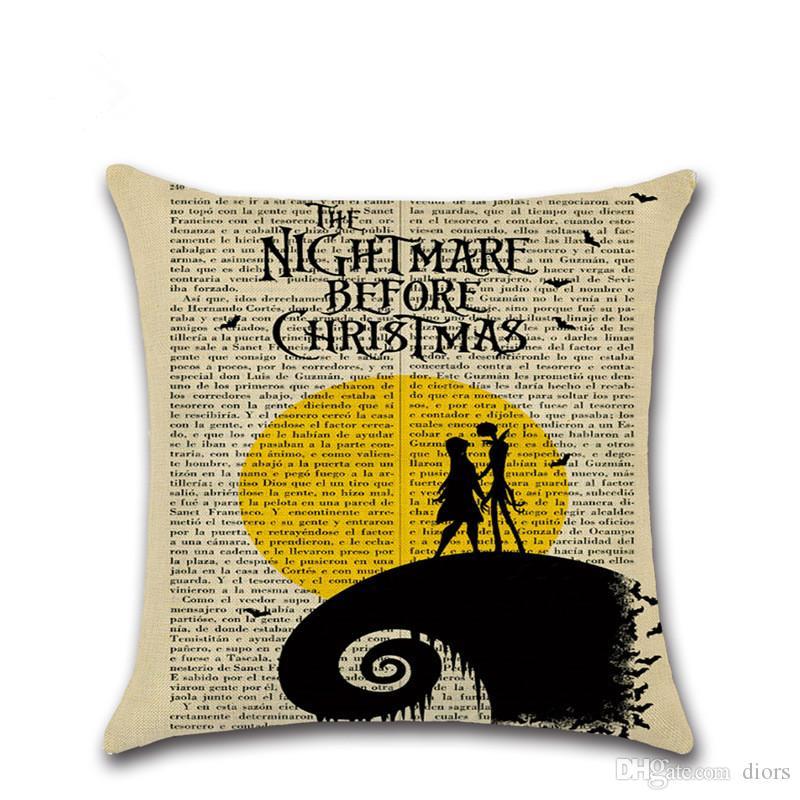Nightmare Before Christmas Jack Personnalisé Housse De Coussin Tout Nom grand cadeau
