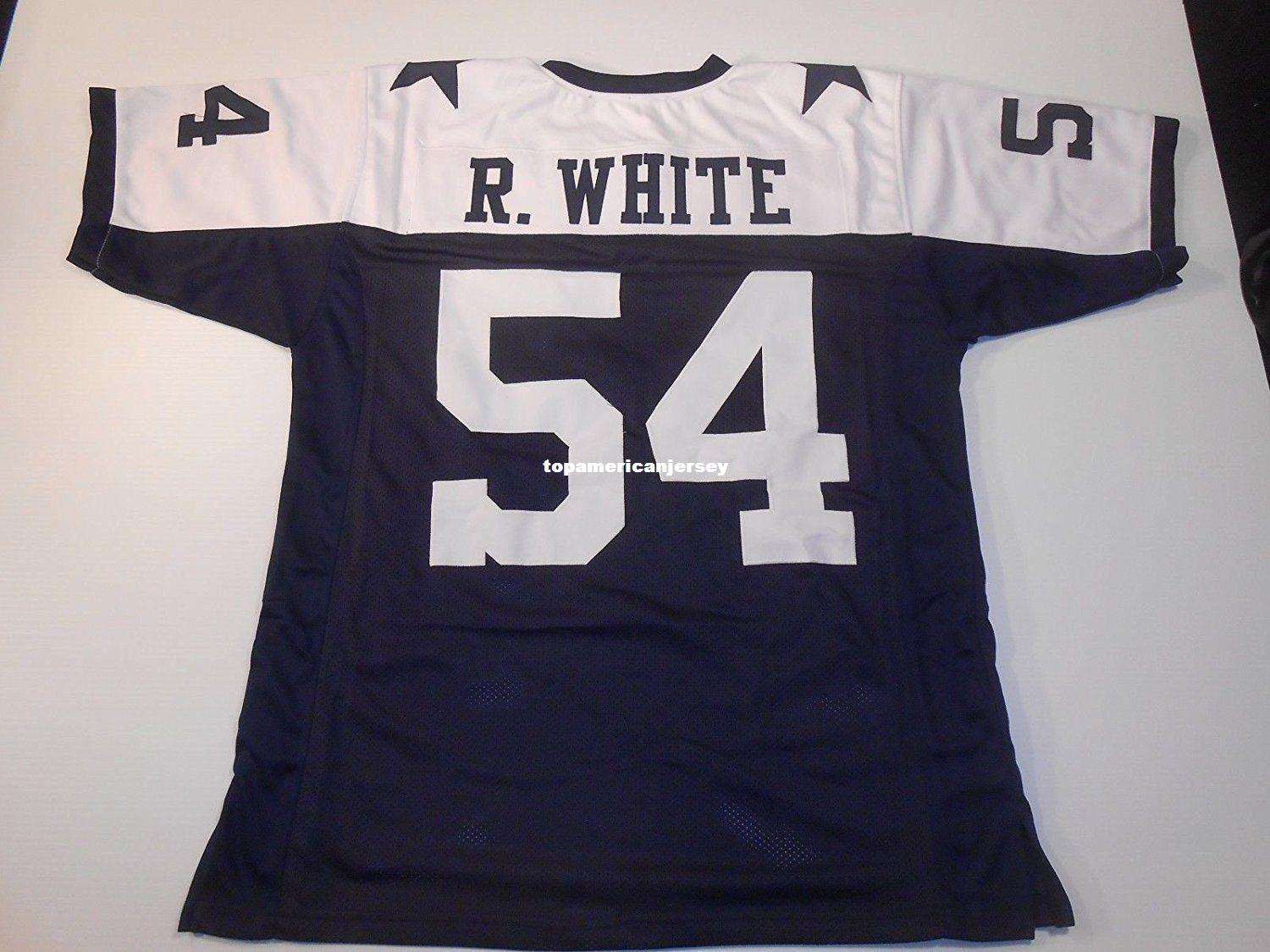 Pas cher Retro personnalisé Cousu Cousu # 54 Randy White Maillot Jersey MITCHELL NESS S-5XL, 6XL Maillots de Football Rugby