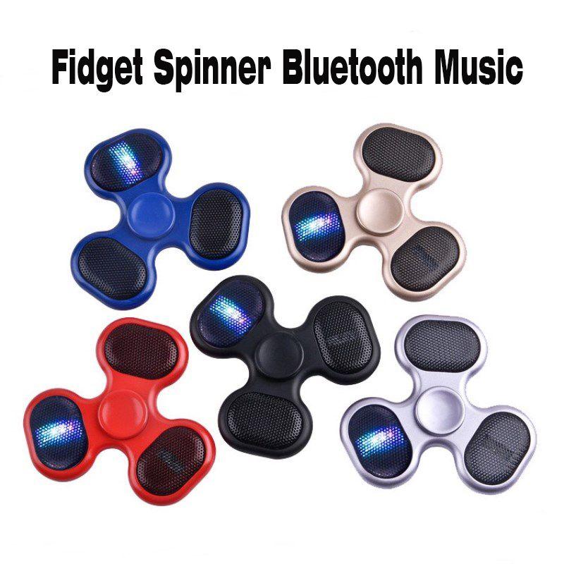 New Led Bluetooth Speaker Music Fidget Spinner Bluetooth connectivity Calls Function Hand Spinner Tri Spinner cube FingerSpinner EDC Toy