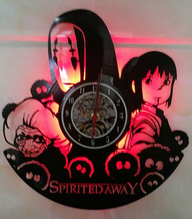 3d Led Backlight Japan Classic Animation Cartoon Characters Series Spirited Away Vinyl Record Clock Iron Wall Clocks Kids Clocks From Angelrabbit2009 27 13 Dhgate Com