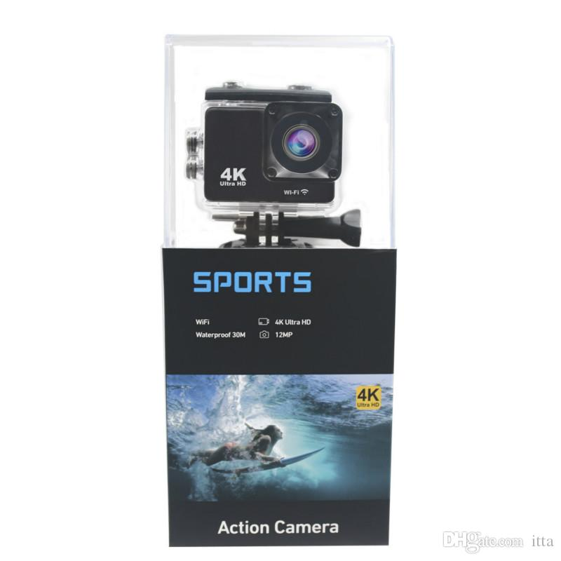 K5G 액션 카메라 PK SJ4000 30M 방수 HD 4K 스포츠 카메라 2.0 인치 LCD 디스플레이 140도 광각 렌즈 야외 카메라