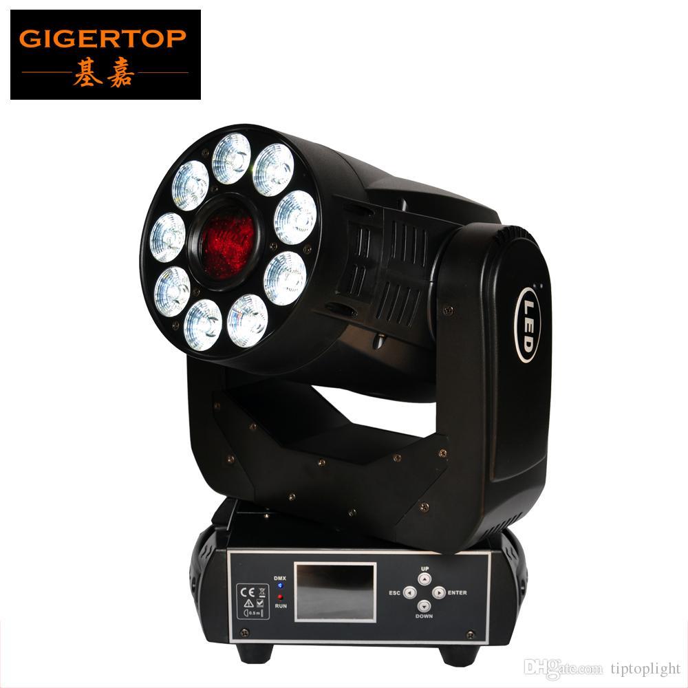 TIPTOP spot + Wash 2EN1 Led Moving Head Light 75W blanc + 9x12W RGBWA UV 6in1 LEDS 13 degrés spot / 25 Degré de lavage CE ROHS Tyanshine 6in1