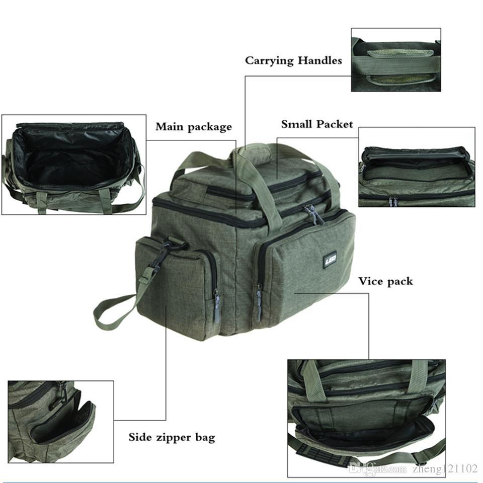 1 Stück Fischen Tackle Tasche Angelsack Wasserdicht Schultern Tasche Schwarz