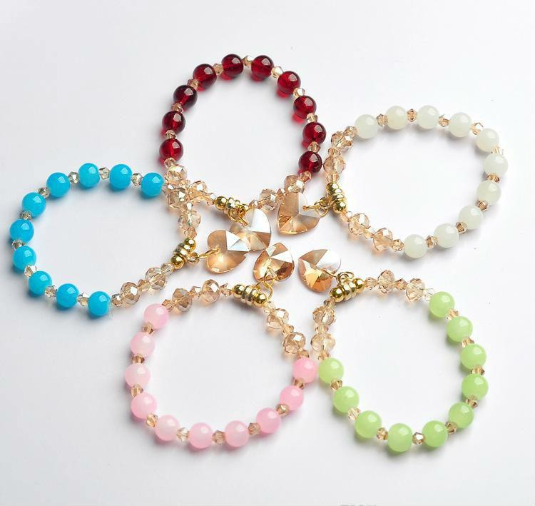 Braccialetti con ciondoli Bracciali con perle in metallo per donna Pulseras Mujer Masculina Braccialetti con perle in metallo con polsiera Pulseira Femme