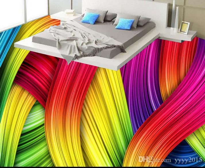 Wall Papers Home Decor For Kids Club Modern Simple Dynamic 3D Colorful  Lines Abstract Decorative Painting Widescreen Mobile Wallpapers Widescreen