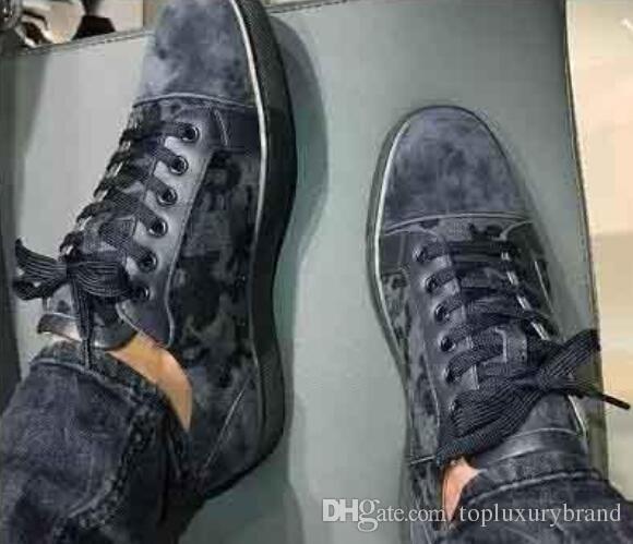 Haute QAULITY Bas Rouge Baskets Camo Rantus Chaussures Junior Chaussures à lacets Hommes Chaussures De Soirée Robe De Mariage Cadeau