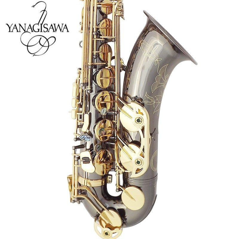 Yanagisawa جديد تينور ساكسفون جودة عالية ساكس ب شقة تينور ساكسفون اللعب مهنيا الفقرة الموسيقى الأسود ساكسفون مجانية