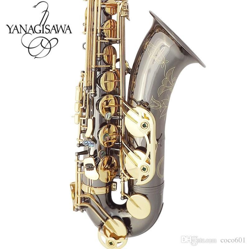 Yanagisawa Nuovo sassofono tenore Sassofono tenore piano Sax B di alta qualità che riproduce professionalmente paragrafo Musica Black Saxophone spedizione gratuita