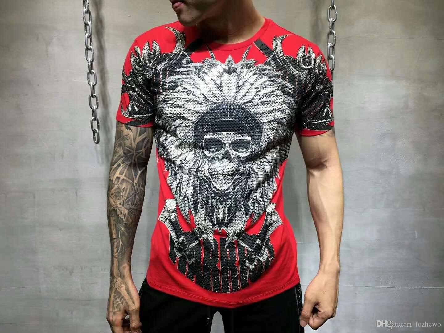 My Brand Men's Tiger Sport Printed T-Shirt Summer Men's Hip Hop Casual Cotton Tees Shirts Fashion Skateboards Streetwear Tshirts