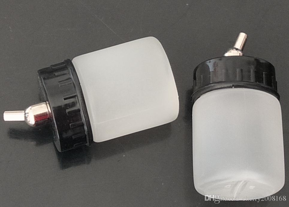 Bottiglie 30pcs bianco Platic Airbrush per Wholesale - 22CC NUOVE del Airbrush della spazzola di aria bianca bottiglia vaso / coperchio standard di aspirazione