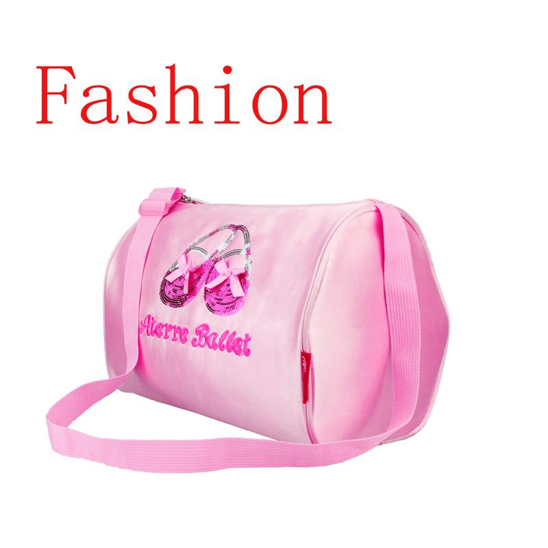 Pointe Shoes Paillette Embroidery Kids Girls Pink Ballet Bag Cross body Waterproof Canvas Children Cute Dance Bags For Ballet
