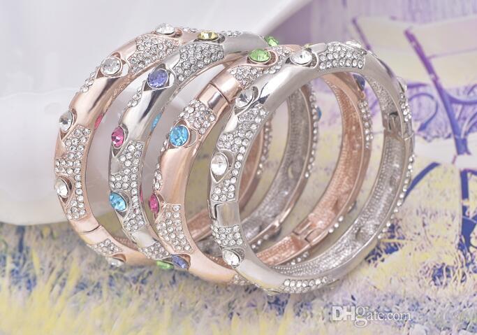 Europa und die Vereinigten Staaten übertrieben Armband Diamant große geschwungene Mode Armband Königin trägt ein Armband