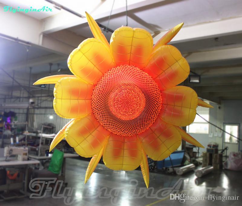 2m الزخرفية نفخ الشمس زهرة سقف شنقا صفراء عباد الشمس للديكور المرحلة