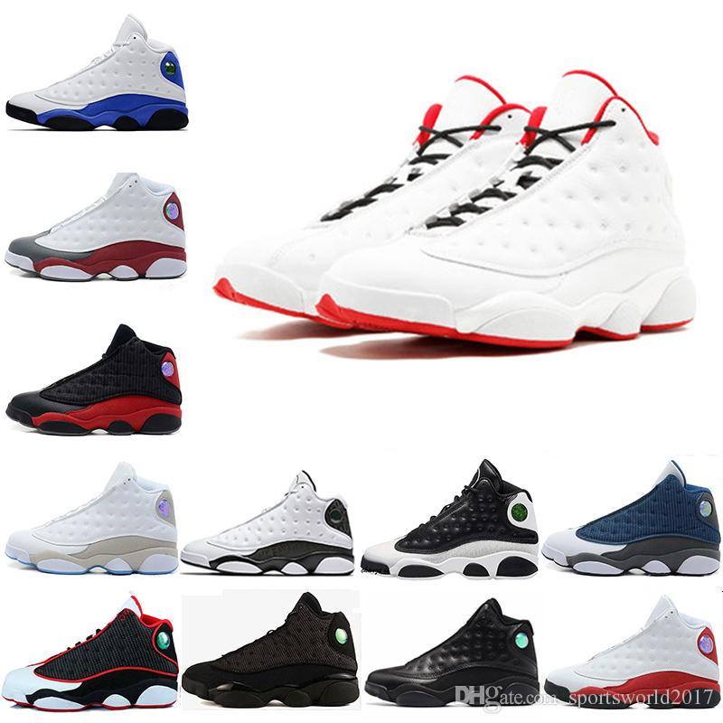 New 13 13s black cat Phantom Hyper Royal olive Wheat GS Bordeaux DMP Chicago men basketball shoes 13s sports Sneaker Shoes free shipping