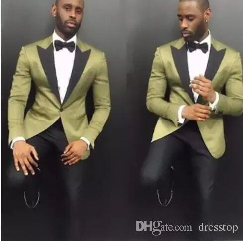 Handsome men suits 2 piece customs cathedral and groom dress wedding host party official business singer pruning stage