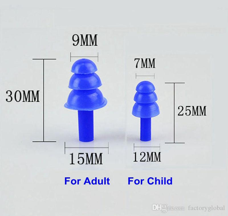 20 çift / grup Yumuşak Silikon Kulaklıklar Ses Yalıtımı Su Geçirmez Kulaklıklar için Çocuk Yetişkin Anti-gürültü için Yüzme Dalış Gürültü Azaltma