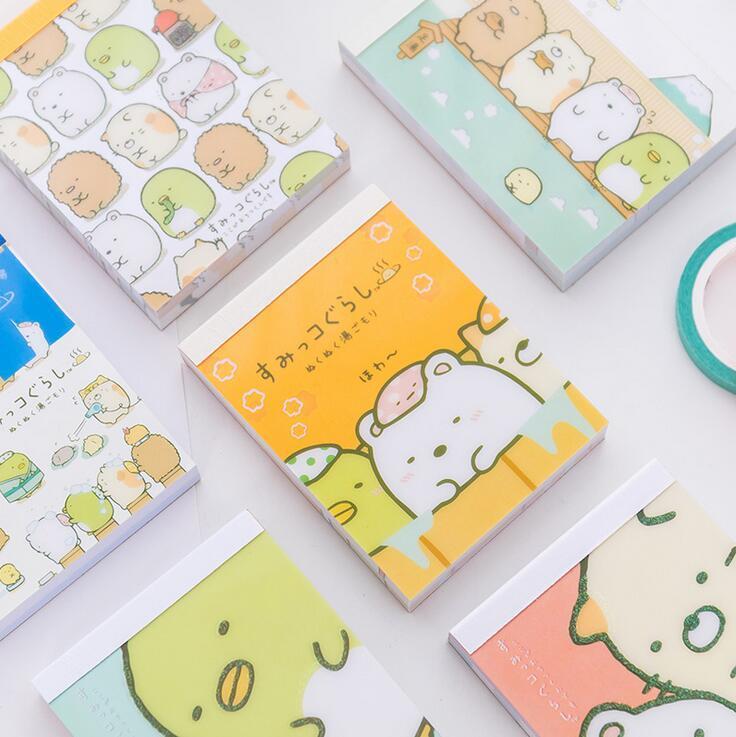 Sumikko Gurashi de Dibujos Animados DIY Cubierta Suave Mini Cuaderno Diario de Bolsillo Bloc de notas de Regalo Promocional Papelería