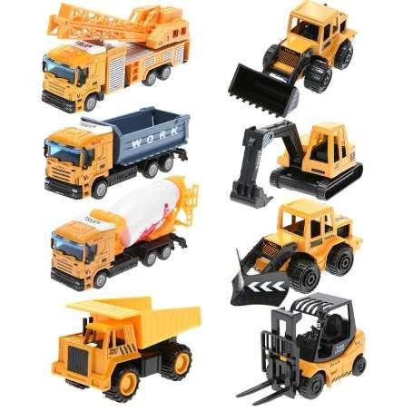Мини-Инжиниринг тянуть назад игрушка экскаватор вилочный погрузчик Нора грузовик самосвал кран зарядки кран дорожный каток детские игрушки