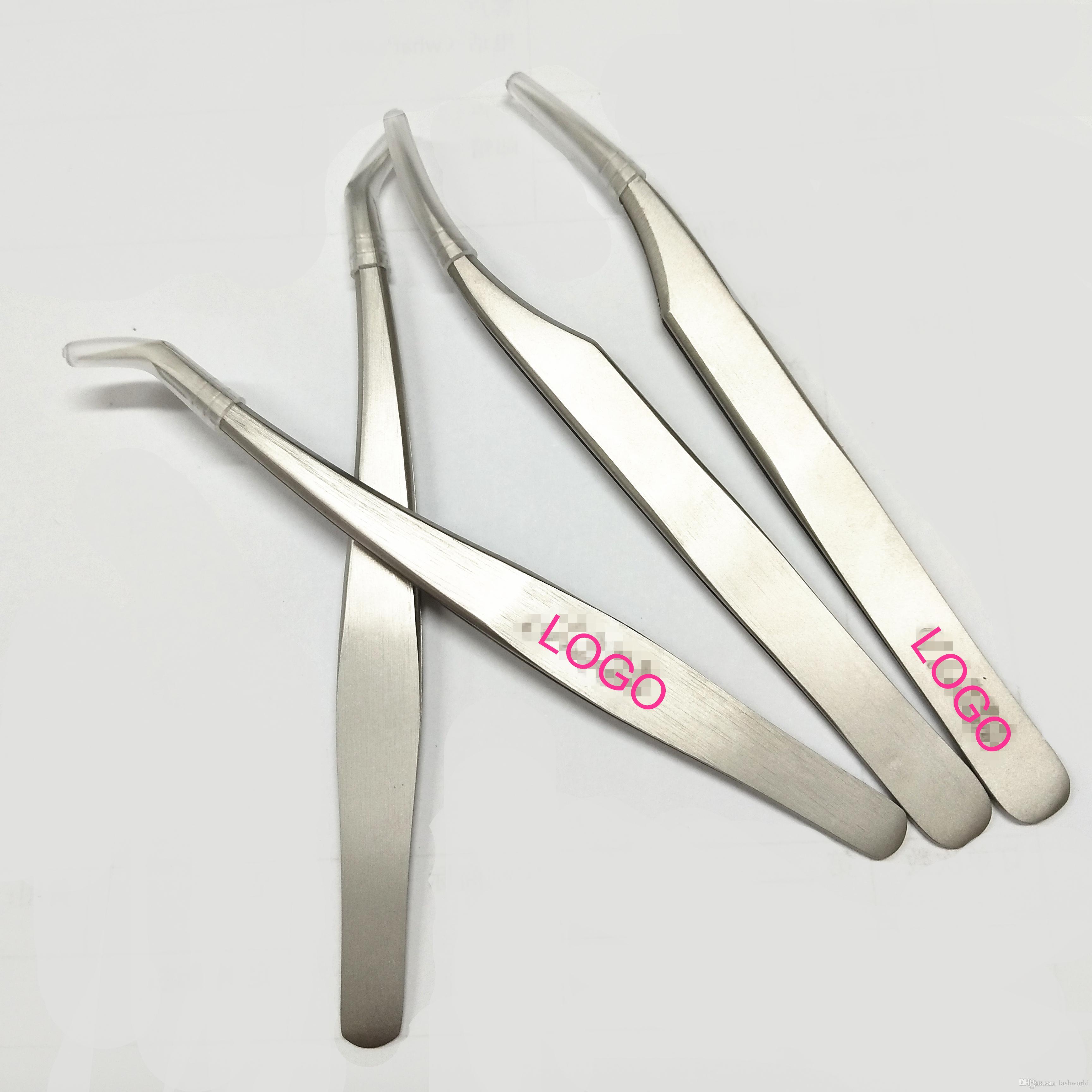 L'acciaio inossidabile all'ingrosso di Seashine mette le pinzette di estensione del ciglio di Multi Tools di elettronica diritto o curva con con il logo del cliente