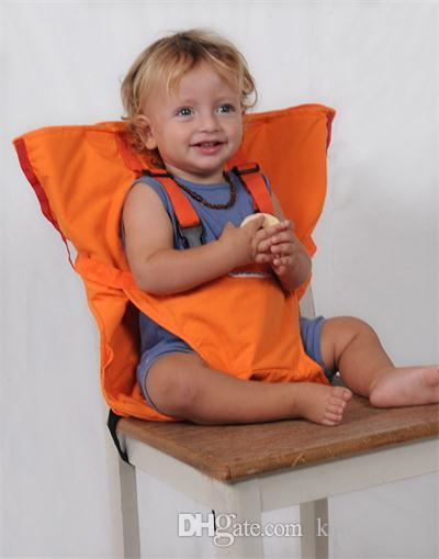 Infants Dining High Chair Cover Seat Safety Belt Baby Portable Seat Infant Travel Foldable Washable Feeding High Chair