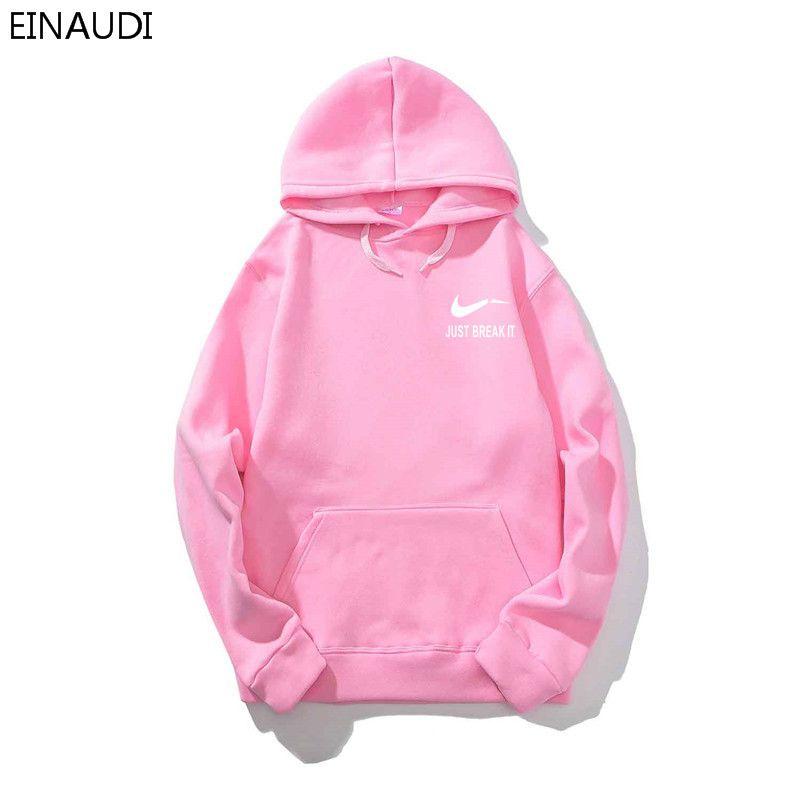 2018 dos homens da moda hoodies só quebrar impressão camisola hoodies homens hip hop de lã de alta qualidade rosa com capuz fino sportswear
