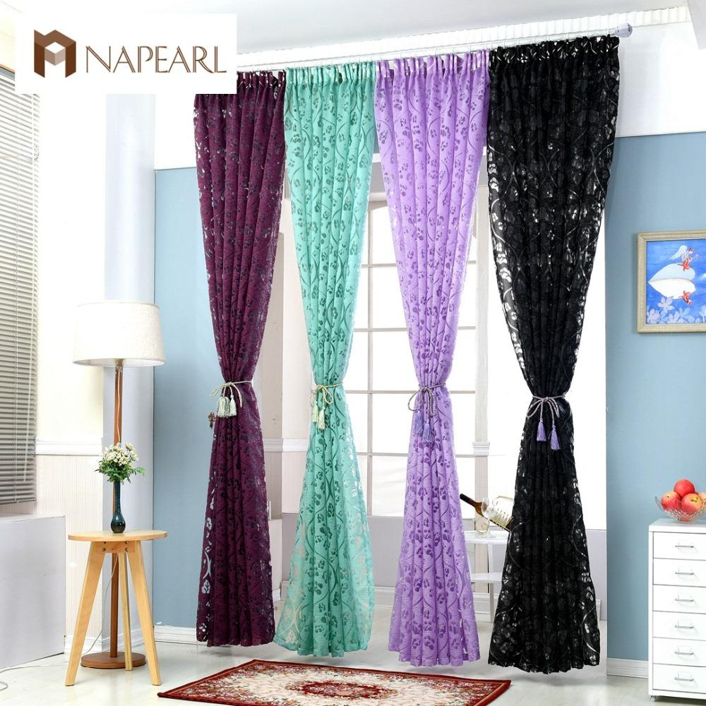 2019 Red Curtains Window Treatments Semi Blackout Curtains 3d ...