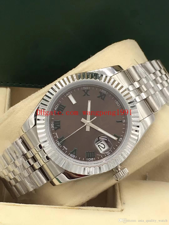 Relógio de alta 41MM 228345RBR Diamond dial mosaico 18K Rose Gold Day-Date II pulseira