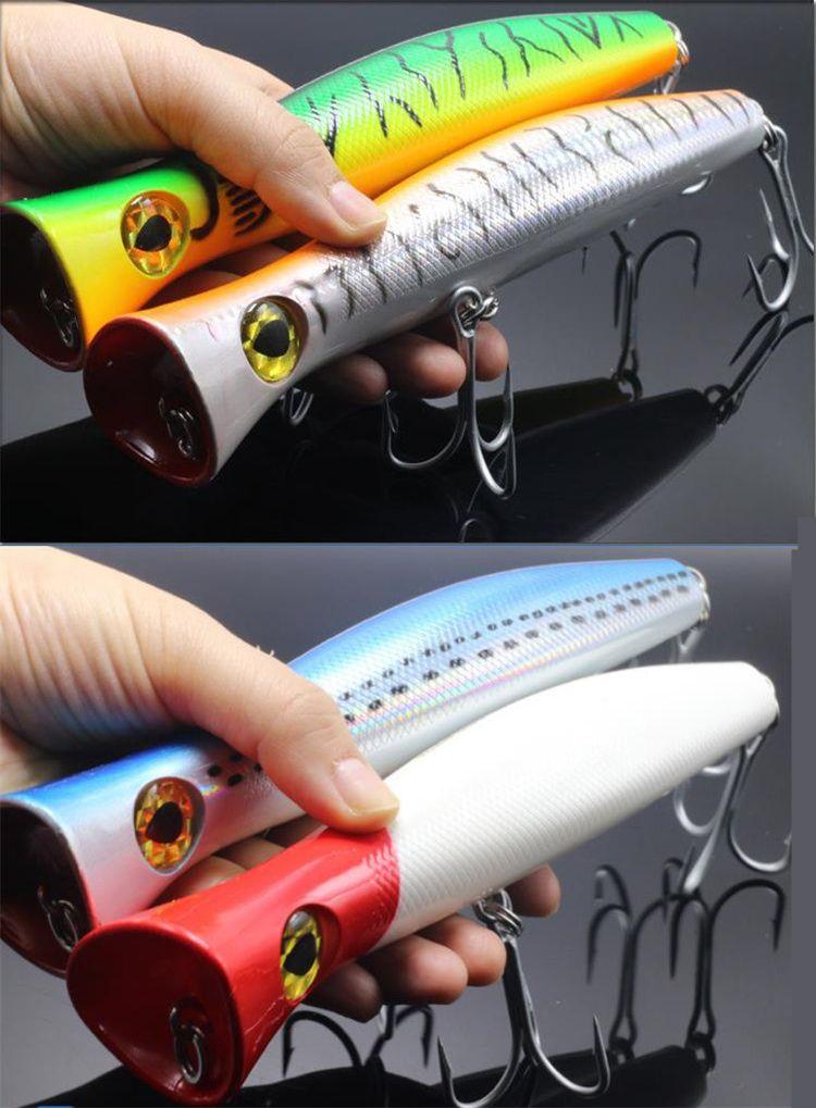 Большой размер соленой воды рыболовные приманки крючки 115 г 20 см ABS пластик гигантский корпус Поппер карандаш swimbaits троллинг Лазерная приманка