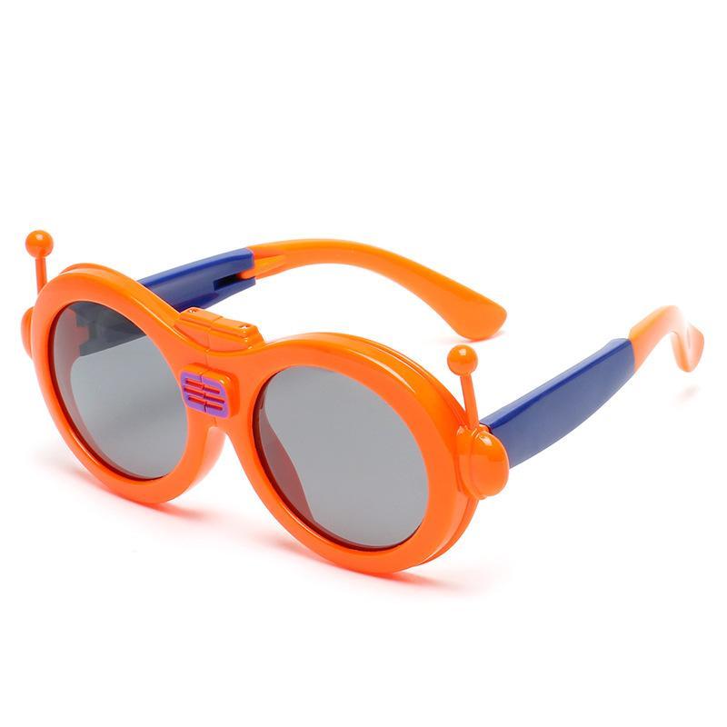Çocuk Güneş Gözlüğü Moda Uv400 Polarize Kat Silika Jel Toptan ile Yeni Model Güneş Gözlükleri Araba Vaka Hediye Olarak