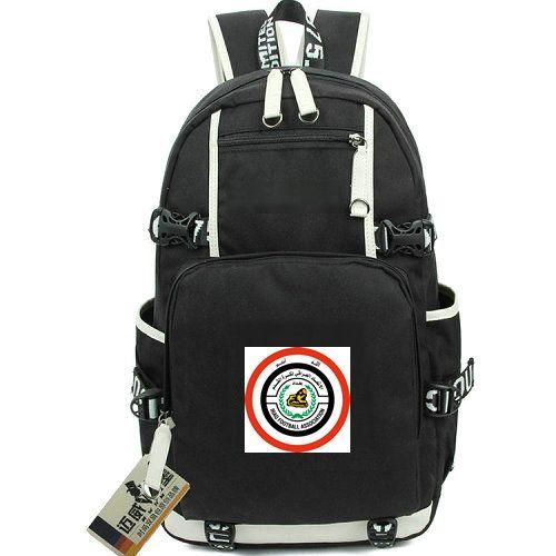 zainetto IRQ zaino squadra Iraq borsa di buona volontà di scuola emblema del calcio di calcio zaino portatile zaino Sport zainetto Out zainetto porta