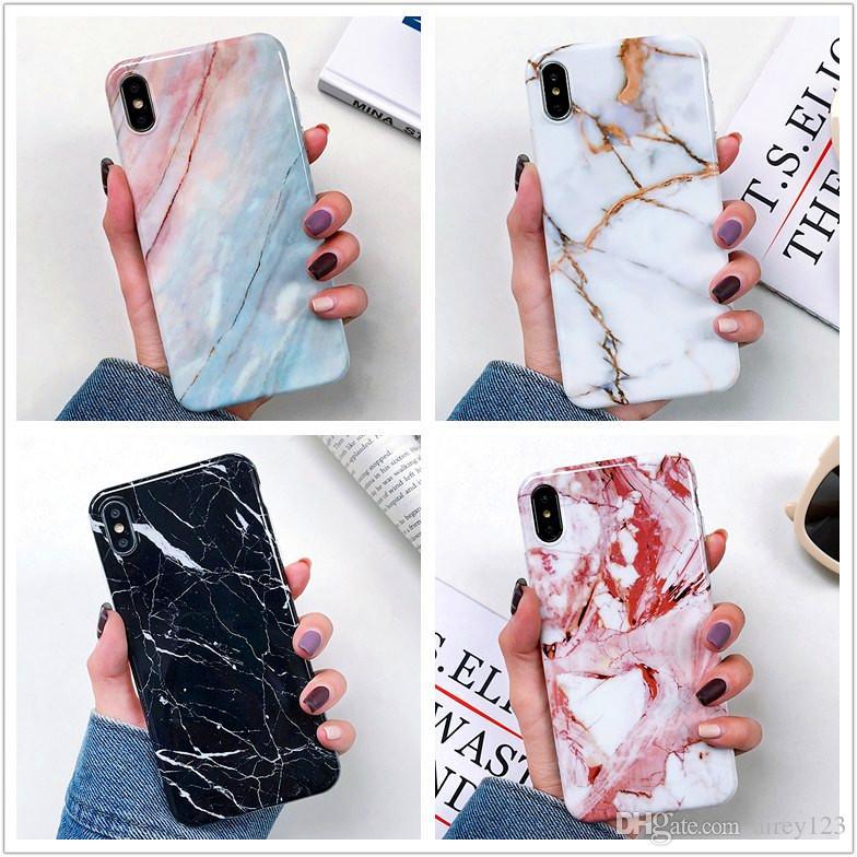Luxus Thick Shell weicher TPU Abdeckungs-Telefon-Marmor-Kasten für iPhone 12 Mini 11 Pro Max XS XR X 6 7 8 Plus
