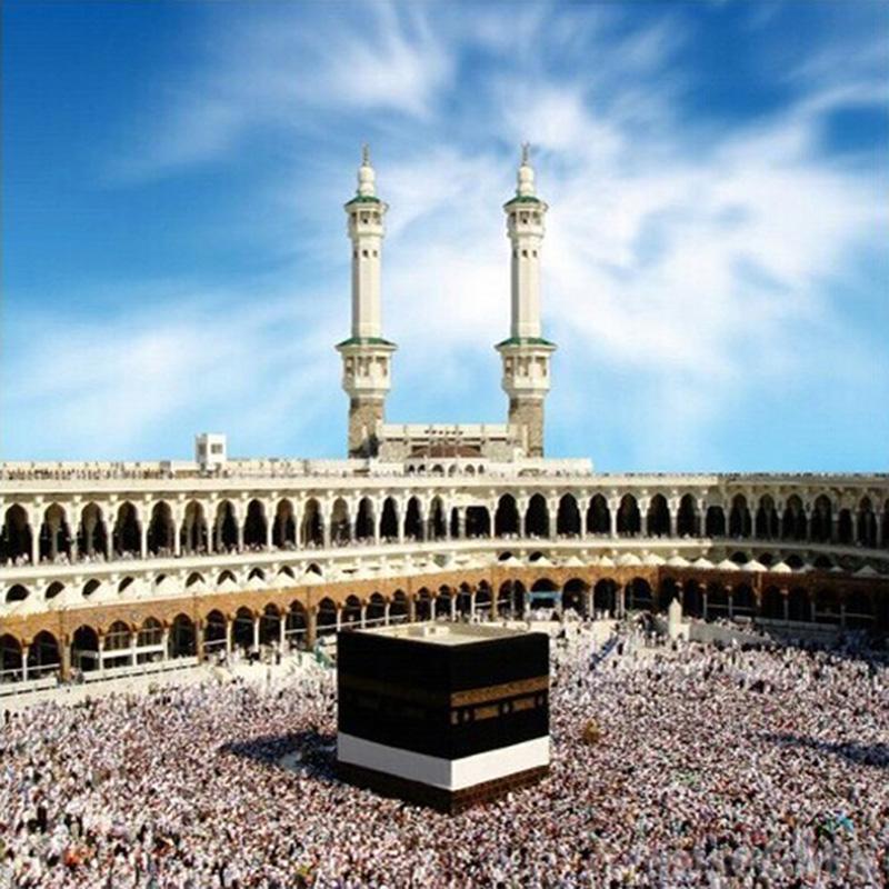 القلعة الجميلة diy الماس التطريز مسلم المسجد الحرام ساحة الماس اللوحة عبر الابره عدة فسيفساء ديكور