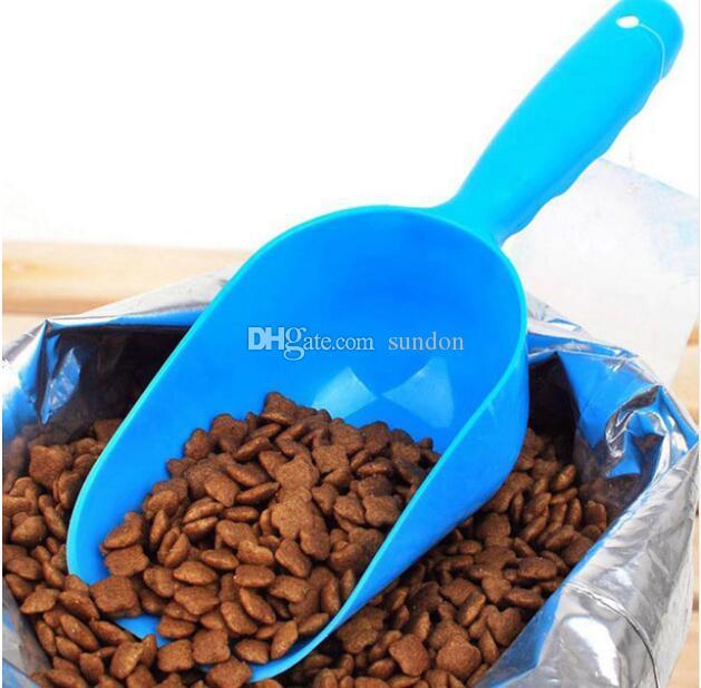 Darmowa Wysyłka 100 SZTUK Cute Pet Dog Cat Bird Rabbit Food Feeder Bowl Scoop Shovel Tool