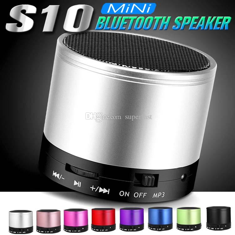 S10 Bluetooth Speaker Outdoor Universal Handfree Mic Stereo Mini Portable Speaker Audio Player TF Card Call function No Logo In Retail Box
