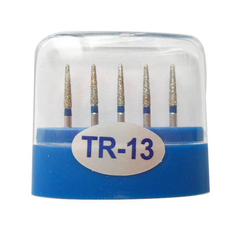 1 paquet (5pcs) fraises diamantées dentaires TR-13 moyennes FG 1.6M pour pièce à main dentaire haute vitesse nombreux modèles disponibles